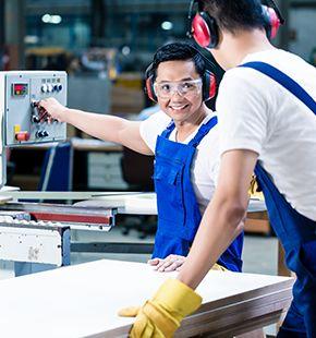 Personal arbeitet in Industrie & Handwerk