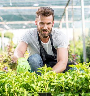 Personal arbeitet in der Landwirtschaft