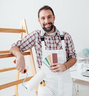 Maler arbeiten in der Industrie und Handwerk