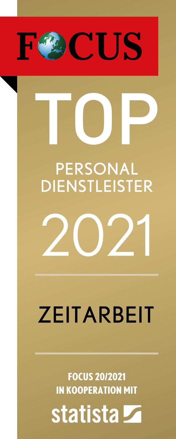 CALUMA - TOP Personaldienstleister 2021 Zeitarbeit